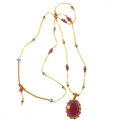 Collier Short Tibet Rubis
