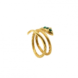 LA2L - Bague Sisi Double Malachite
