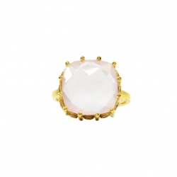 Diaperis - Bague Kallys Quartz Rose
