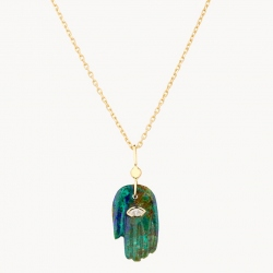 Collier Petite Main Malachite