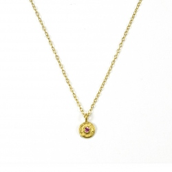 Collier Jackie Tourmaline Rose