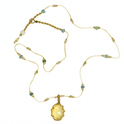 Sharing - Collier Short Tibet Citrine