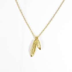 Birdy - Collier 2 plumes or