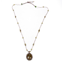 Sharing collier Smokey Quartz