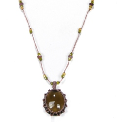 Collier Short Tibet Quartz Fumé