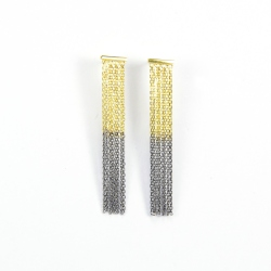 Marie Laure Chamorel - Boucle d'oreille MLS 463 Bicolor Gold