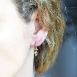 Marie Laure Chamorel -Boucle d'oreille Créole MLS 556 Gold Multicolor