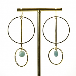 Boucles Debby Amazonite