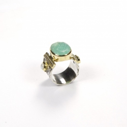 Bague Agathe Amazonite