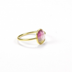 Vic & max - Bague Tourmaline Watermelon rose