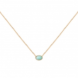 Collier amazonite Cab Ovale