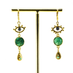 Boucles Sacha 3 Malachite