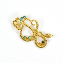 Broche Serpent Turquoise
