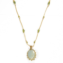Collier short tibet Aquamarine