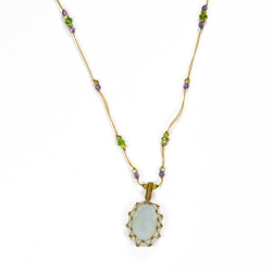 Collier Short Tibet Vesuvianite