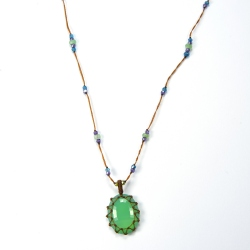 Collier Short Tibet Green Fluorite