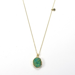 Collier Reflet Chrysocolle